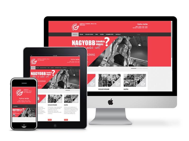 Gladiátor Gym Weboldal