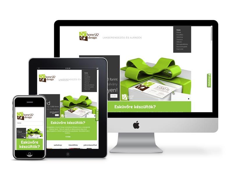 Weboldal készítés webshoppal