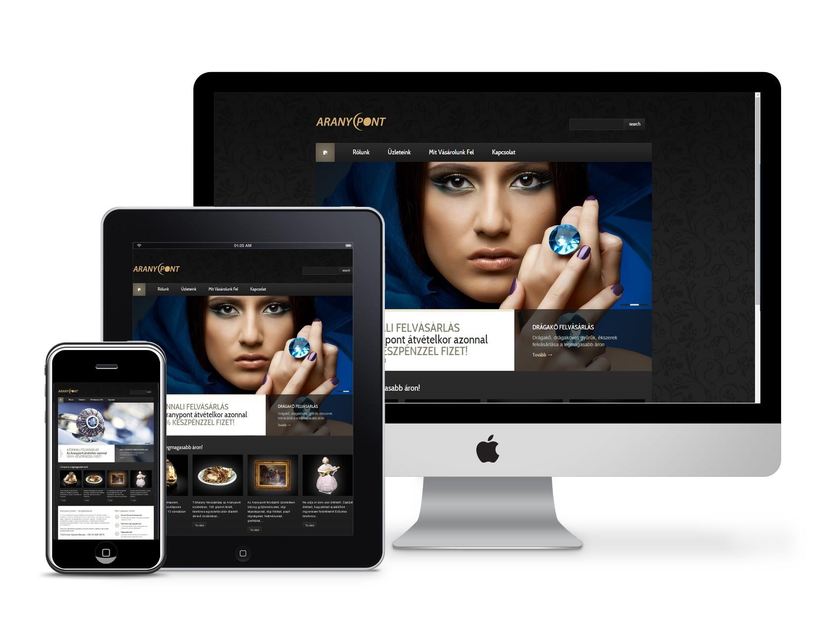 Aurum Weboldal készítés