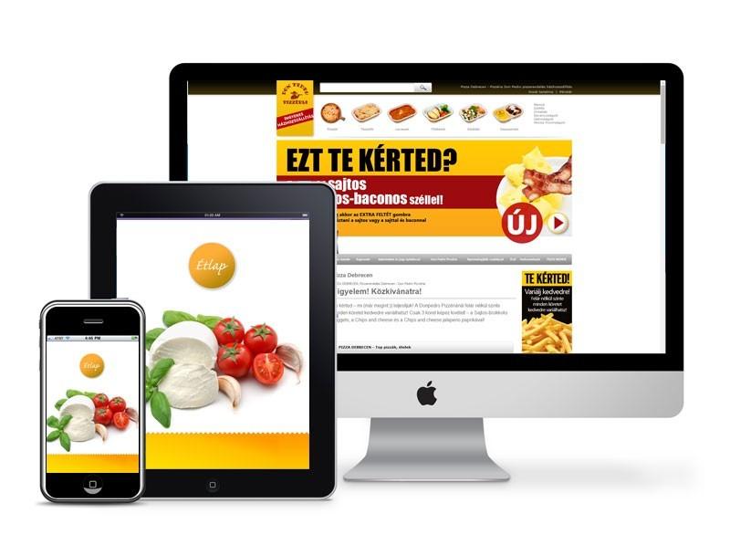 Webshop pizzériának Debrecen